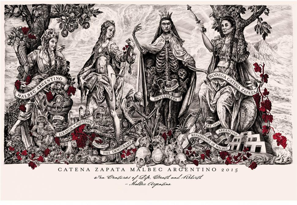 Catena Zapata - etichetă despre istoria Malbecului