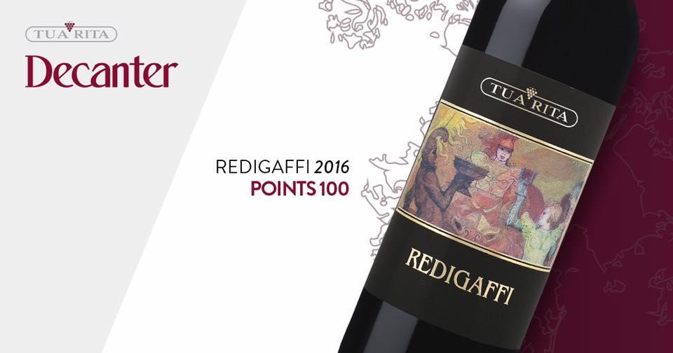 "Tua Rita Redigaffi 2016, ""scorul perfect"" Decanter"